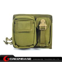 Picture of CORDURA Fabric MOLLE Modular 2 Pouch Khaki GB10088