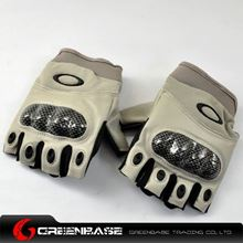 Picture of GB OK Half Finger Gloves TAN-XL size NGA0802