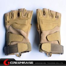 Picture of GB BH half finger Gloves TAN-L size NGA0807