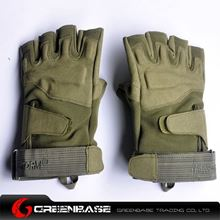Picture of GB BH half finger Gloves Green-M size NGA0809