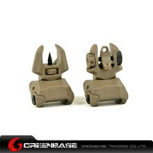 Picture of Unmark F type Polymer Front & Rear Folding Sights Dark Earth GTA1027