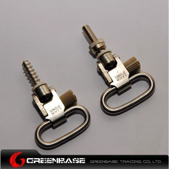 Picture of UM 1002-2 Quick Detachable Super Swivels 1 inch Silver NGA0435