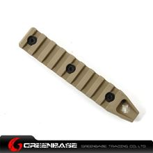Picture of GB Keymod 9 slot rail section for URX 4.0 Dark Earth GTA1180