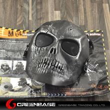 Picture of M01 CS Mask Skull Skeleton  Full Face Protect Mask Silver Black GB10243