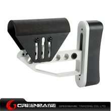 Picture of NB Ultra Light XL Tactical Buttstock Silver and Black GTA1271
