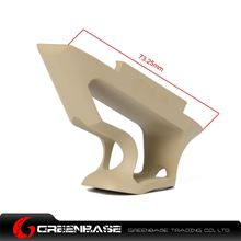 Picture of GB CNC Picatinny System Short Angled Grip Dark Earth GTA1350