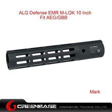 Picture of GB ALG Defense Ergonomic Modular Rail (EMR) M-LOK 10 Inch Black GTA1384