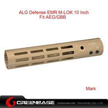 Picture of GB ALG Defense Ergonomic Modular Rail (EMR) M-LOK 10 Inch Dark Earth GTA1385