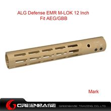 Picture of GB ALG Defense Ergonomic Modular Rail (EMR) M-LOK 12 Inch Dark Earth GTA1387