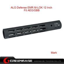 Picture of GB ALG Defense Ergonomic Modular Rail (EMR) M-LOK 12 Inch Black GTA1388