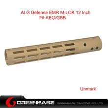 Picture of NB ALG Defense Ergonomic Modular Rail (EMR) M-LOK 12 Inch Dark Earth GTA1389
