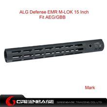 Picture of GB ALG Defense Ergonomic Modular Rail (EMR) M-LOK 15 Inch Black GTA1391