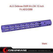 Picture of GB ALG Defense Ergonomic Modular Rail (EMR) M-LOK 15 Inch Purple GTA1393