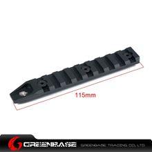 图片 GB Keymod 9 slot rail section for URX 4.0 Black GTA1179