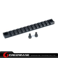 Picture of NB 140mm 20mm Picatinny Rail Weaver Mount Base 12 Slots for Hunting Rifle Scope Black GTA1489
