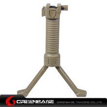 图片 Unmark Tactical Foregrip Bipod with side rail Dark Earth GTA1215