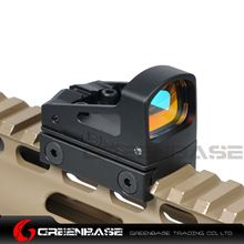 Picture of GB RMS Reflex Mini Red Dot Sight With Vented Mount and Spacers For Airsoft Glock Pistol Aluminium Black NGA1323