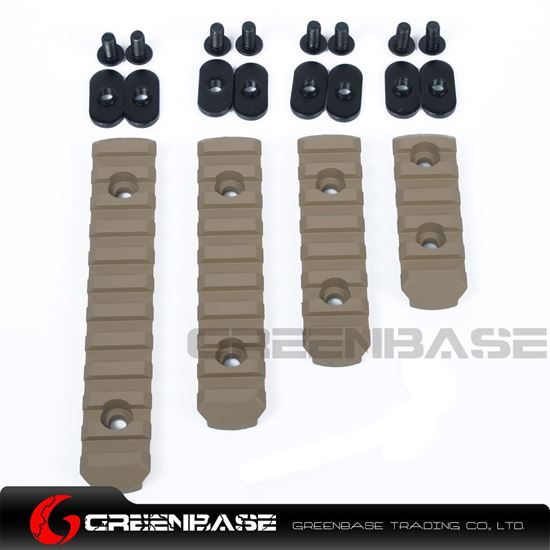 Picture of  EX 254 Polymer Rail Sections For MP handguard Dark Earth NGA0197
