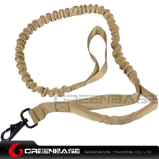 Picture of NB Military Tactical Bungee Dog leash With Control Handle Nylon Hunting Training Jogging Dark Earth NGA1317
