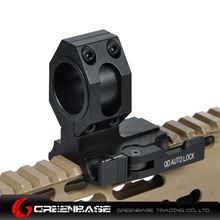 "Picture of NB Tactical Auto Lock Quick Detach 25mm/30mm Flashlight Scope Ring Mount 1"" Of Forward Scope Position Picatinny Weaver Mount Black NGA1318"