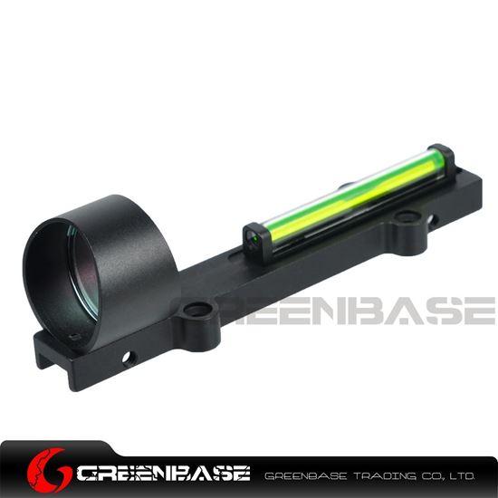 Picture of NB 1X28 Collimeter Sight Optic Fiber Green Circle Dot Sight For Shotgun Black NGA1349