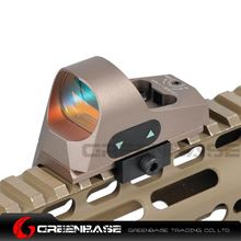 Picture of NB 1x25 Mini Reflex Sights 1 MOA Adjustments 3 MOA Dot Reticle Red Dot Sight With 1913 Mount/QD Mount Dark Earth NGA1362