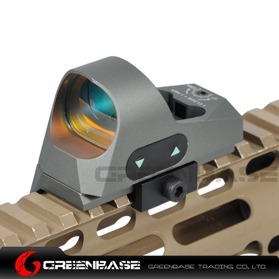 Picture of NB 1x25 Mini Reflex Sights 1 MOA Adjustments 3 MOA Dot Reticle Red Dot Sight With 1913 Mount/QD Mount Gray NGA1363