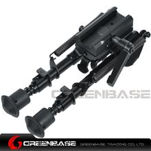 Picture of NB Tactical 6-9 Inch Bipod With Leg Notches With Rotating Bipod Adapter Fit Picatinny Rail Black NGA1377