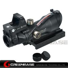 Picture of GB Wide field of View GB 01NSN ACOG 4X32 Scope With RM Red Dot Black NGA1409  NGA1409