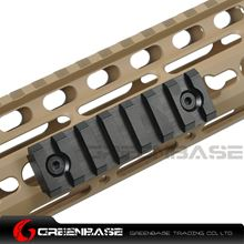 Picture of NB 7 Slots Keymod Rail Mount Base 75mm Picatinny Weaver Rail For Keymod Handguard System Black NGA1442