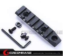 Picture of NB 7 Slots Dual Interface M-LOK Rail Section 3/8'' Qucik Detachable Socket QD Attachment Feature Black NGA1371