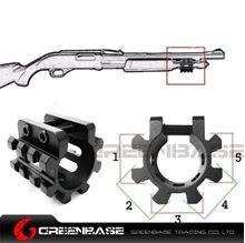 "Picture of MT12G 12G Shotgun Magazine 1"" Tube Tri-Rail Weaver Mount Laser Flashlight  NGA1588"
