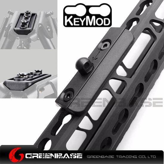 Picture of KeyMod Picatinny BIPOD ADAPTER Tactical Low Profile rail Slot Sling Swivel Stud NGA1579
