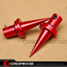 Picture of NB Bipod Quick Change Spike Feet Bipod Feet Replacement 2pcs CNC Aluminum RED NGA1593